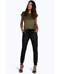 Boohoo Yasmin Leather Look Joggers