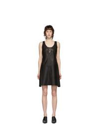 Helmut Lang Black Lambskin Tank Dress