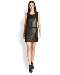 Vince Leathersilk Dress