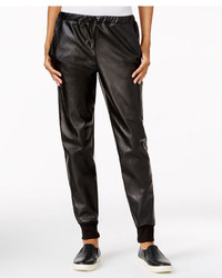 Chelsea Sky Faux Leather Jogger Pants Only At Macys