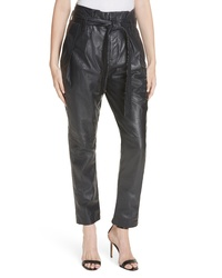 Equipment Isidore Paperbag Waist Leather Trousers