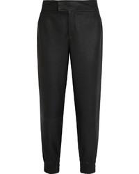 Leather tapered pants medium 1316881