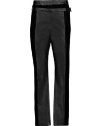 Proenza Schouler Suede And Leather Tapered Pants