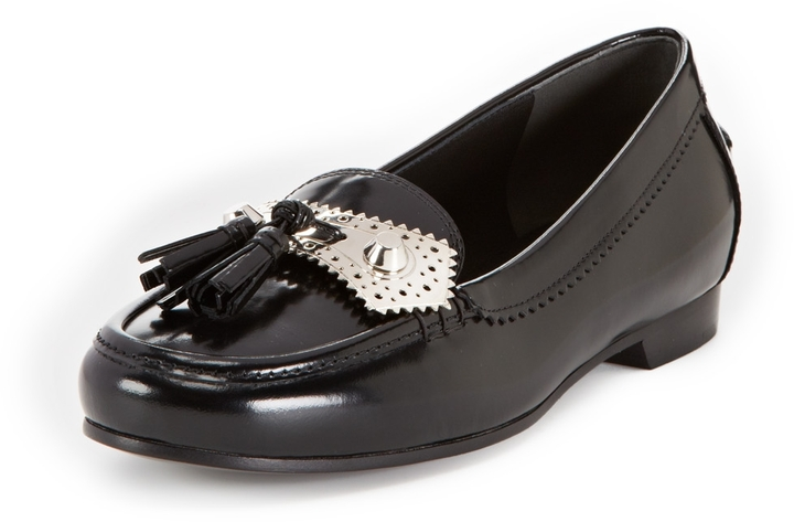 356ce95de77e ... Balenciaga Low Heel Metal Tassel Loafer ...