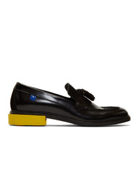 Off-White Black Leather Tassel Loafers
