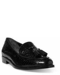 Lauren Ralph Lauren Brindy Patent Leather Croc Embossed Loafers