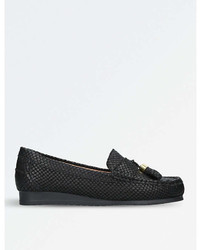 Carvela Comfort Cost Snakeskin Embossed Leather Loafers