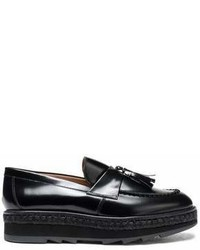 Castaner Castaer Tasseled Leather Platform Loafers