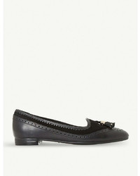 Dune Gambie Brogue Detail Leather Loafers