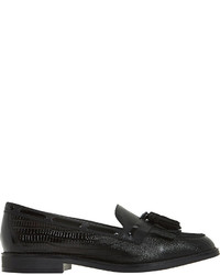 Dune Goodness Fringe Tassel Leather Loafers
