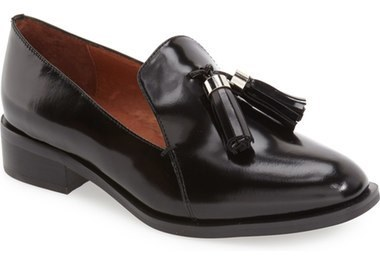 0a783317cfc ... Black Leather Tassel Loafers Jeffrey Campbell Lawford Tassel Loafer ...