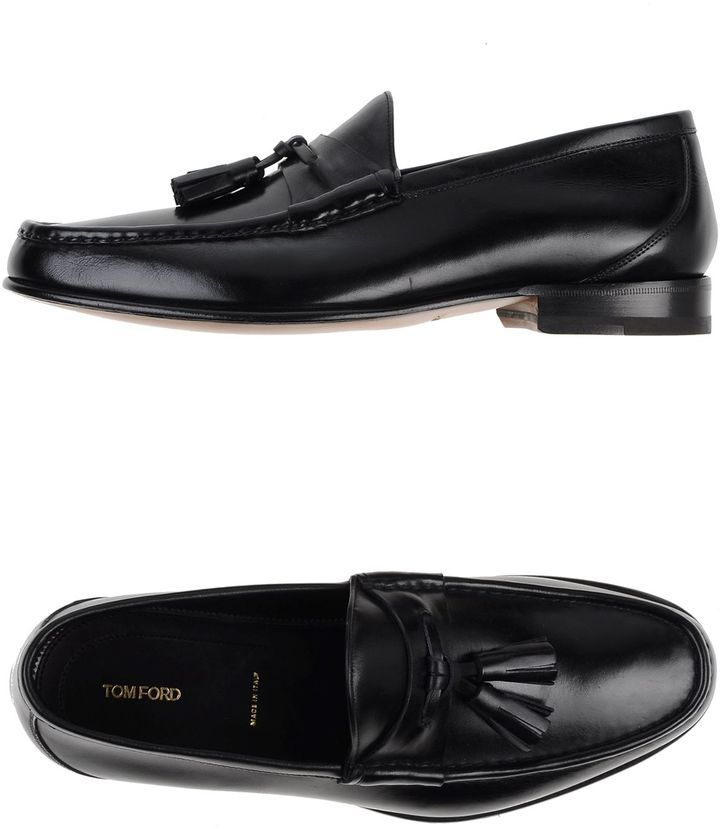 4de06149b65 Moccasins. Black Leather Tassel Loafers by Tom Ford