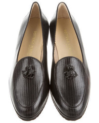 Bottega Veneta Textured Leather Loafers