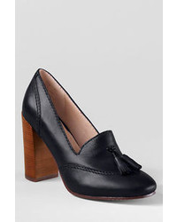 Lands' End Stowe High Heel Tassel Shoes