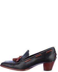 Stuart Weitzman Girlthing Leather Tassel Loafer Pumps