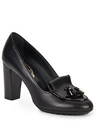 Tod's Tacco Leathertasseled Pumps