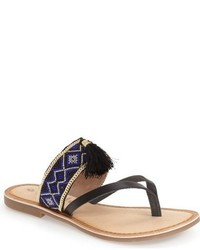 Anjul beaded flip flop medium 750599