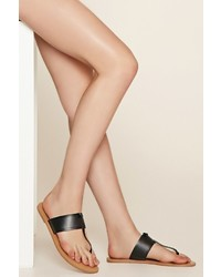 Forever 21 Faux Leather Thong Sandals