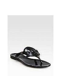 Jack Rogers Georgica Jelly Thong Sandals Black