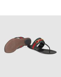 6eed5f88d340 ... Gucci Leather Horsebit Thong ...