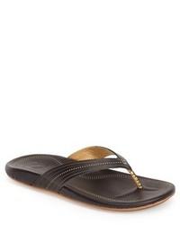 OluKai Wana Leather Thong Sandal