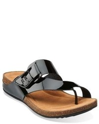 5ccd49a08 ... Clarks Perri Coast Patent Leather Thong Sandals