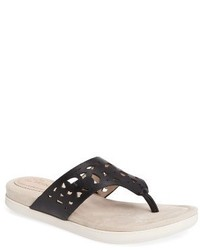 Sally perforated flip flop medium 3683329