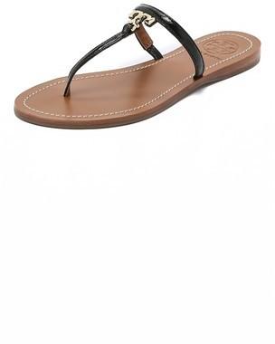 a313ec05fce6e5 ... Leather Thong Sandals Tory Burch T Logo Flat Thong Sandals ...
