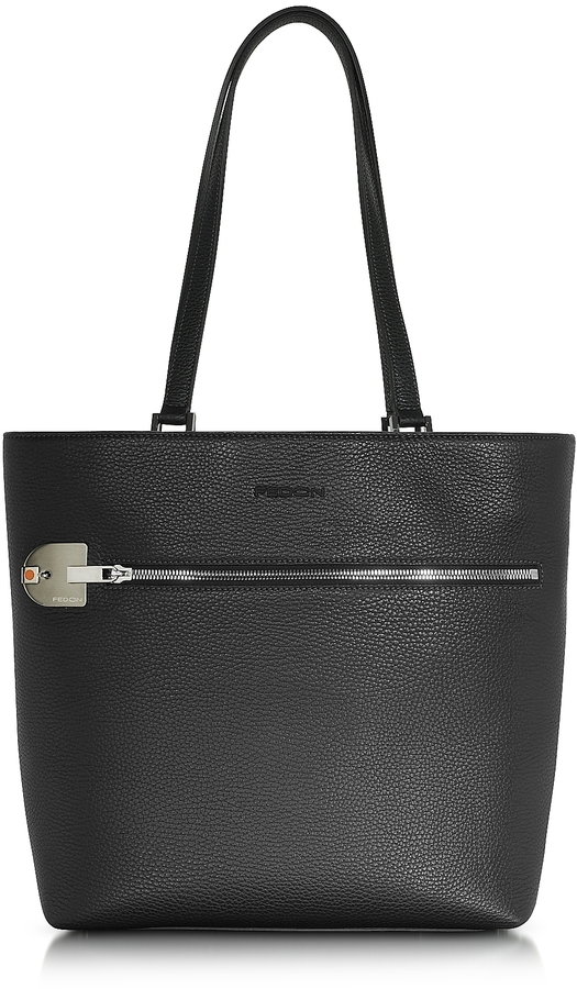 Giorgio Fedon 1919 Amelia Black Leather Tote Bag