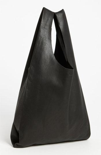 Medium Leather Shoulder Bag Black