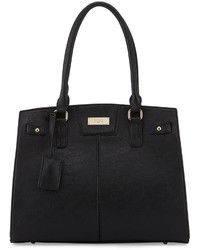 BCBGMAXAZRIA Bcbg Paris Chic Faux Leather Tote Bag Black