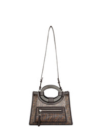 Fendi Black And Brown Small Forever Runaway Tote
