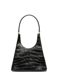 Staud Black Croc Rey Bag