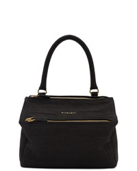 Givenchy Black Croc Small Pandora Bag