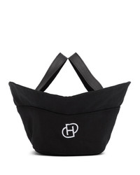 Dheygere Black Double Bucket Tote