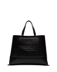 Calvin Klein 205W39nyc Black Geometric Embossed Leather Tote