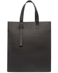 Black leather ab 25 tote bag medium 349326
