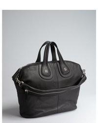 Givenchy Black Leather Medium Nightingale Handbag
