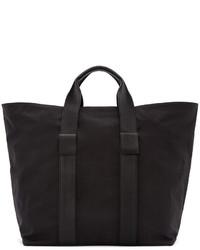 DSQUARED2 Black Leather Nylon Tote