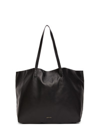 Mansur Gavriel Black Leather Oversized Tote