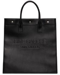 Saint Laurent Black Leather Rive Gauche Tote