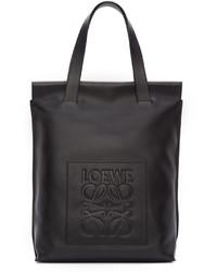 Loewe Black Leather Shopper Tote