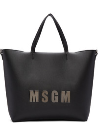 MSGM Black Logo Shopper Tote