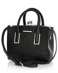 River Island Black Mini Structured Tote Bag
