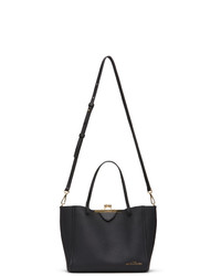 Marc Jacobs Black Mini The Kiss Lock Tote