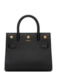 Burberry Black Mini Two Handle Title Bag