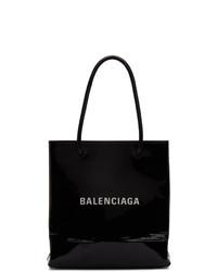 Balenciaga Black Patent Xxs Shopping Tote