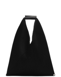 MM6 MAISON MARGIELA Black Small Mesh Triangle Tote
