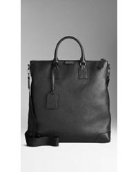Burberry Signature Grain Leather Tote Bag