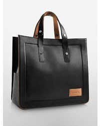 Calvin Klein Waxed Leather Tote Bag